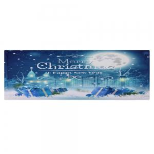 Christmas Night Pattern Anti-skid Water Absorption Area Rug - BLUE W16 INCH * L47 INCH