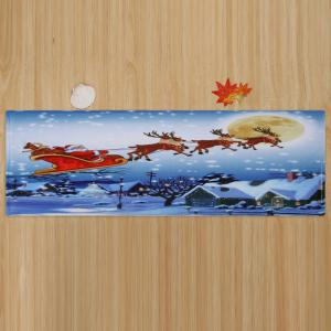 Christmas Santa Sleigh Pattern Anti-skid Water Absorption Area Rug - COLORMIX W24 INCH * L71 INCH