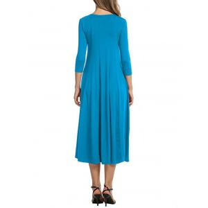 Casual A Line Midi Day Dress -