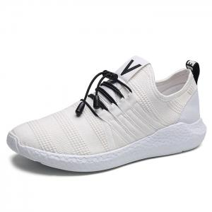 Mesh Stripes Athletic Shoes - WHITE 43