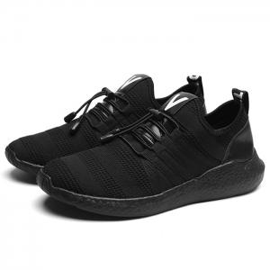 Mesh Stripes Athletic Shoes - BLACK 40