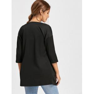 Double Pockets Open Front Tunic Coat -