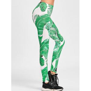 Banana Leaf Print Skinny Leggings -