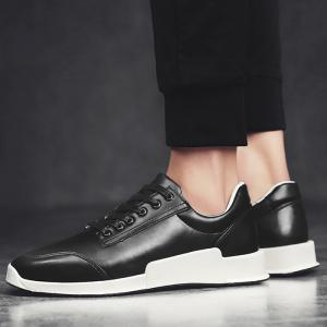 Colorblock Round Toe Sneakers -