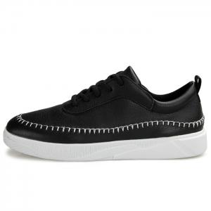 Whipstitch Faux Leather Low-top Sneakers -