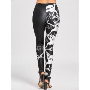 Halloween Two Tone Skulls Leggings -