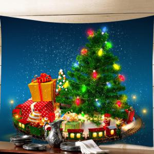 christmas tree gifts print tapestry wall hanging art decoration