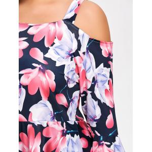 Off The Shoulder Floral Plus Size Peplum T-shirt -