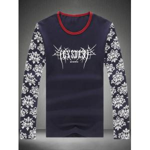Long Sleeve Retro Floral Graphic Tee -