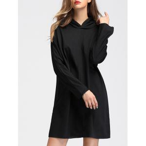 Cold Shoulder Hoodie Dress -