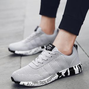 Mesh Letter Breathable Sneakers -