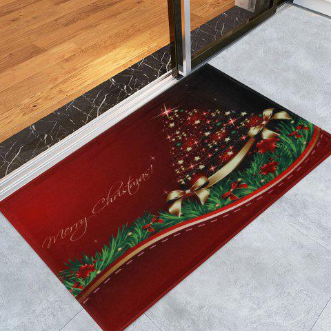 Sale Christmas Tree Print Antislip Bath Mat