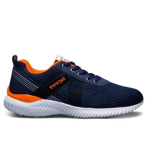 Trendy Breathable Mesh Lace Up Sneakers - 42 JACINTH Mobile