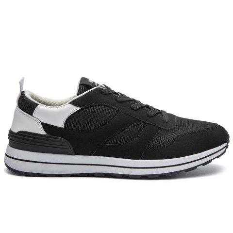 Store Color Block Mesh Low Top Athletic Shoes - 40 WHITE Mobile