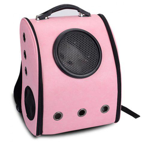 Unique Grommet Breathable Space Capsule Backpack - PINK  Mobile
