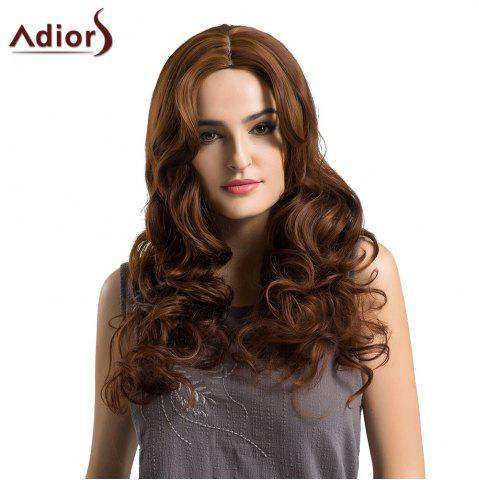 Store Adiors Long Center Parting Shaggy Loose Wave Synthetic Wig - BROWN  Mobile