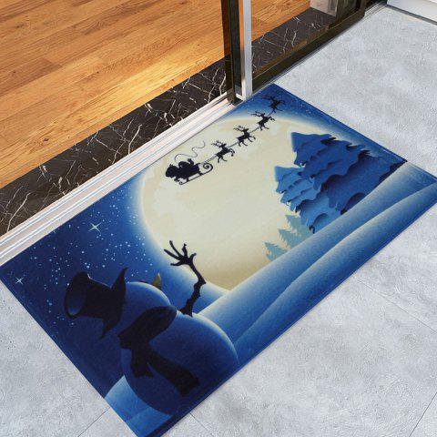 Latest Christmas Snowman Moon Tree Antiskid Bath Mat