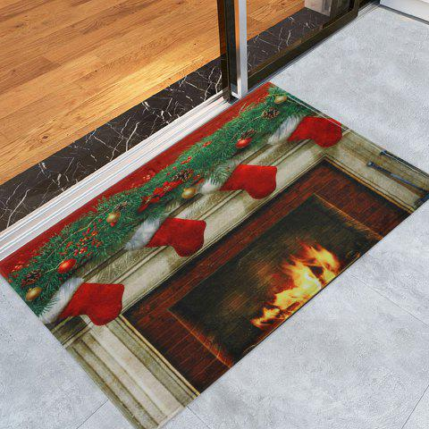 Trendy Christmas Fireplace Socks Antiskid Bath Rug