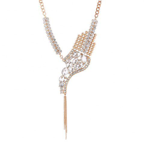 Sparkly Rhinestone Fringed Statement Collier