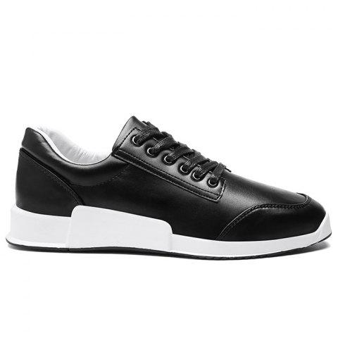 Unique Colorblock Round Toe Sneakers BLACK 40