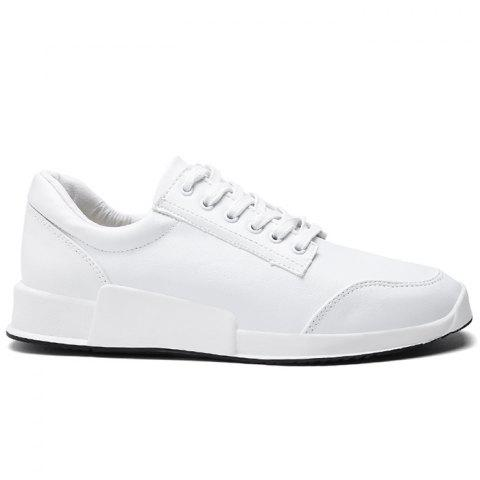 Online Colorblock Round Toe Sneakers - 43 WHITE Mobile