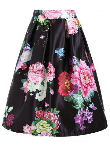 Outfit Floral Print High Waisted Midi Skirt