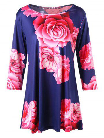 Cheap Floral Shift T-shirt Dress