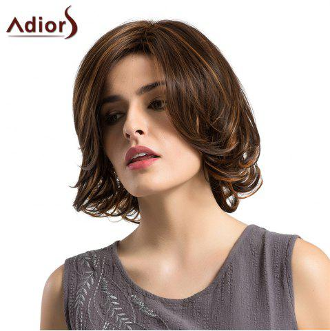 Shop Adiors Short Side Parting Tail Upwards Straight Bob Colormix Synthetic Wig COLORMIX