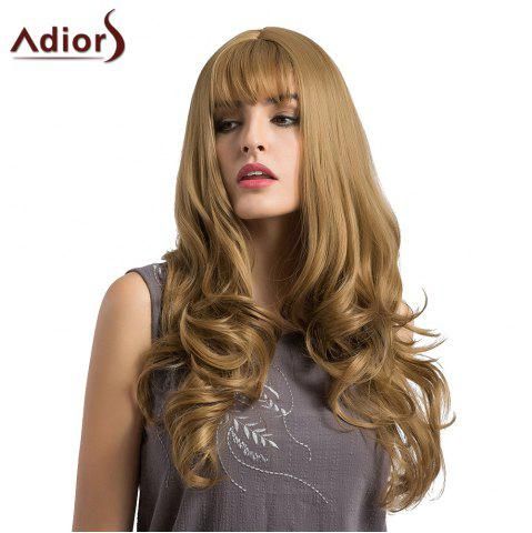 Shop Adiors Long See-Trough Fringe Layered Curly Synthetic Wig