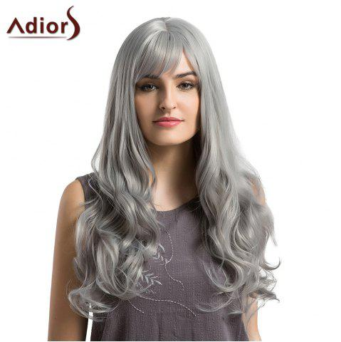Shops Adiors Long See-Trough Fringe Layered Curly Synthetic Wig - GRANNY HAIR  Mobile