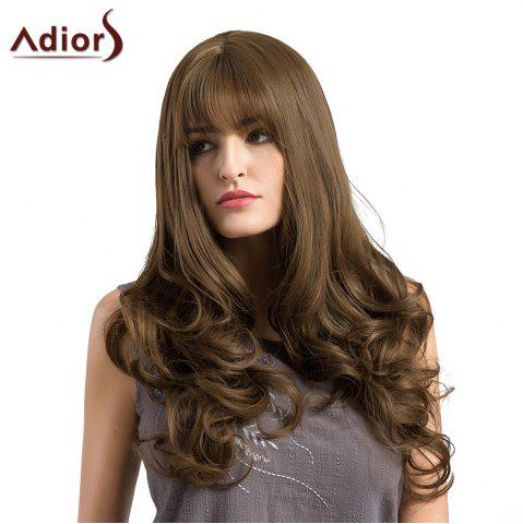 Store Adiors Long See-Trough Fringe Layered Curly Synthetic Wig BROWN