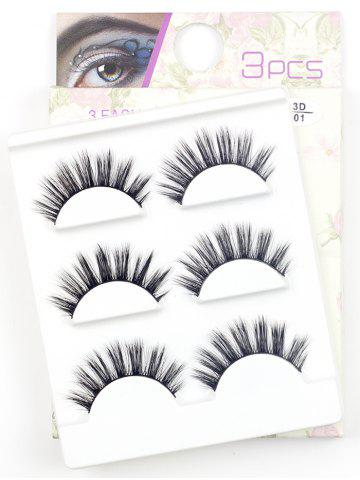 Fashion 3 Pairs Natural Long Extension Flase Eyelashes