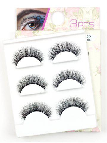 Cheap 3 Pairs Natural Long Extension Flase Eyelashes #04