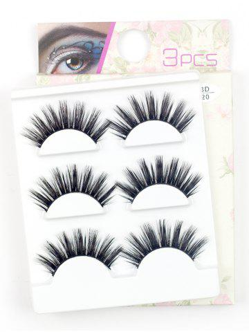 Trendy 3 Pairs Natural Long Extension Flase Eyelashes - #07  Mobile