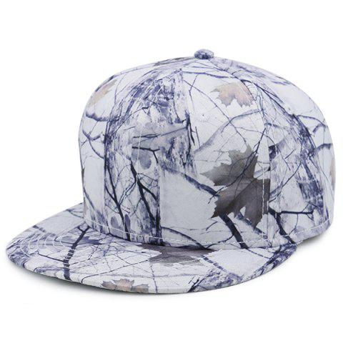 Affordable Wild Jungle Print Baseball Cap - WHITE  Mobile