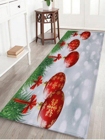 Online Christmas Baubles Pattern Anti-skid Water Absorption Area Rug COLORMIX W24 INCH * L71 INCH