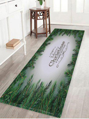 Fancy Merry Christmas Pattern Anti-skid Water Absorption Area Rug COLORMIX W16 INCH * L47 INCH
