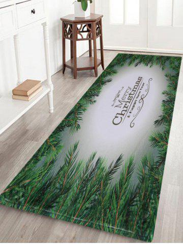 Merry Christmas Pattern Anti-skid Water Absorption Area Rug Multicolore Largeur 24 pouces*Longueur 71pouces