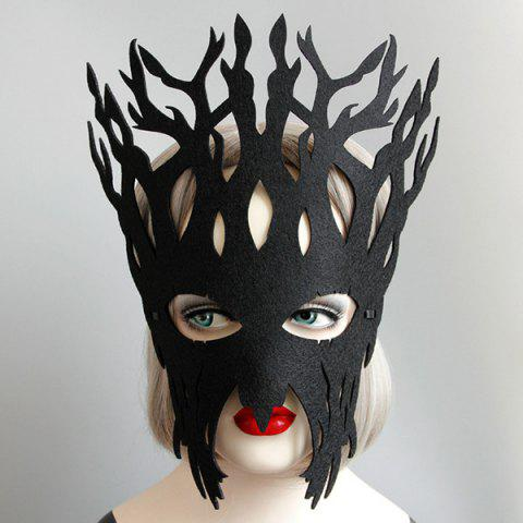 Trendy Halloween Party Tree Mask BLACK