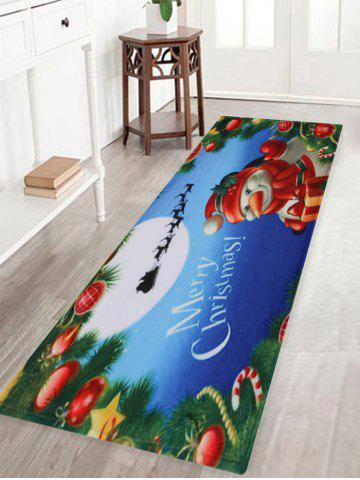 Merry Christmas Snowman Pattern Antidérapant Tapis de zone d'absorption d'eau