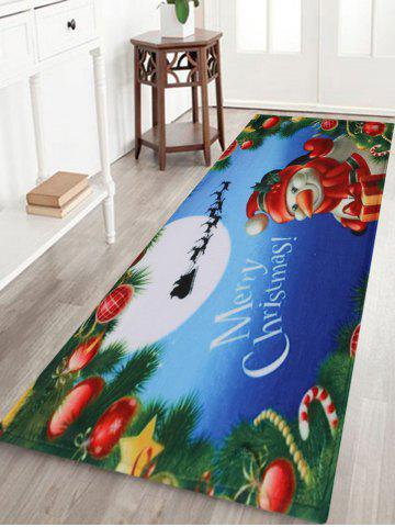 Outfits Merry Christmas Snowman Pattern Anti-skid Water Absorption Area Rug - W24 INCH * L71 INCH COLORMIX Mobile