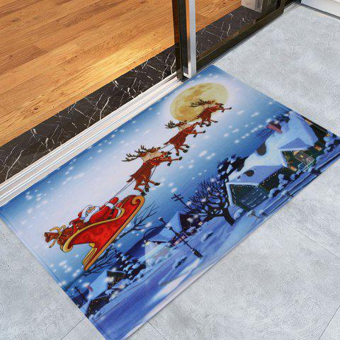 Shops Christmas Santa Sleigh Pattern Anti-skid Water Absorption Area Rug - W16 INCH * L24 INCH COLORMIX Mobile