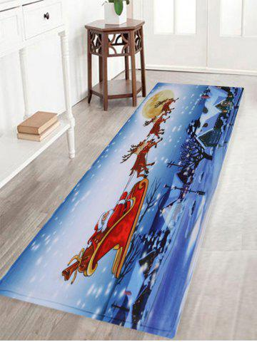 Store Christmas Santa Sleigh Pattern Anti-skid Water Absorption Area Rug