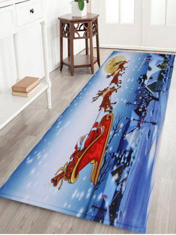 Hot Christmas Santa Sleigh Pattern Anti-skid Water Absorption Area Rug - W24 INCH * L71 INCH COLORMIX Mobile