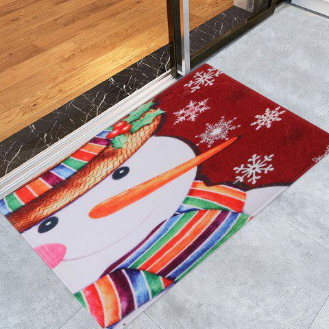 Best Christmas Snowman Pattern Anti-skid Water Absorption Area Rug
