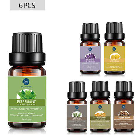 Outfits 6Pcs Peppermint Lavender Lemon Rosemary Frankincense Sandalwood Essential Oil Set MULTI