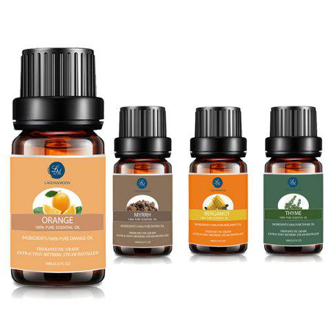 Store 4Pcs Myrrh Orange Thyme Bergamot Essential Oil MULTI