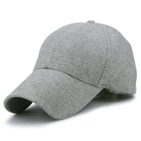Wave Stripe Pattern Baseball Cap Gris