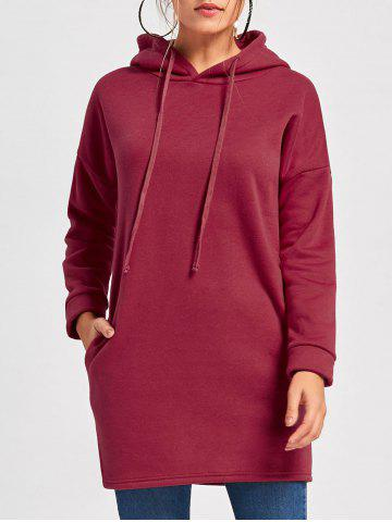 Drop Shoulder Mini Hoodie Dress