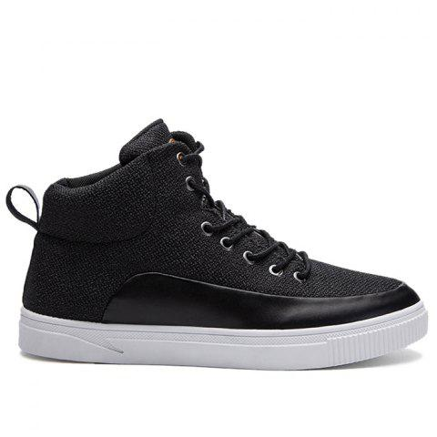 Shops Faux Leather Panel High Top Sneakers